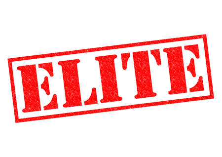 elite: ELITE red Rubber Stamp over a white background.