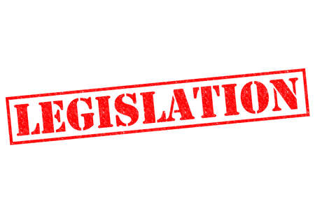 lawmaking: LEGISLATION red Rubber Stamp over a white background. Stock Photo