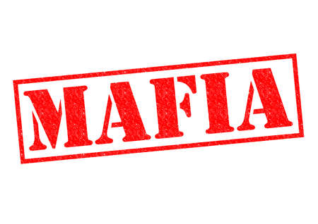 syndicate: MAFIA red Rubber Stamp over a white background.