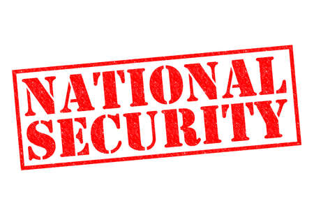 NATIONAL SECURITY red Rubber Stamp over a white background. photo