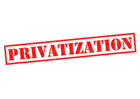 PRIVATIZATION red Rubber Stamp over a white background. photo