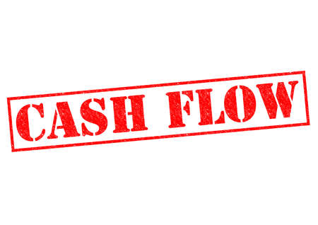 liquidity: CASH FLOW red Rubber Stamp over a white background. Stock Photo