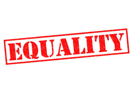 EQUALITY red Rubber Stamp over a white background. photo