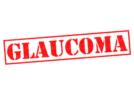 glaucoma: GLAUCOMA red Rubber Stamp over a white background. Stock Photo