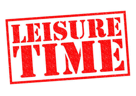 intermission: LEISURE TIME red Rubber Stamp over a white background.