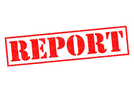 REPORT red Rubber Stamp over a white background.