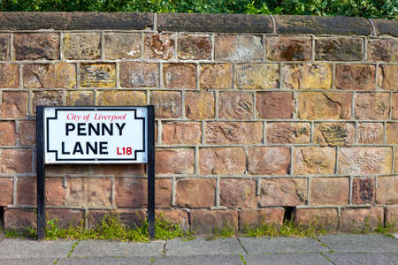 Penny Lane in Liverpool. The street was immortalised in a song by The Beatles