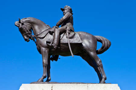 king edward: The King Edward VII Monument situated on the Pier Head outside the Royal Liver Building in Liverpool, England. Stock Photo