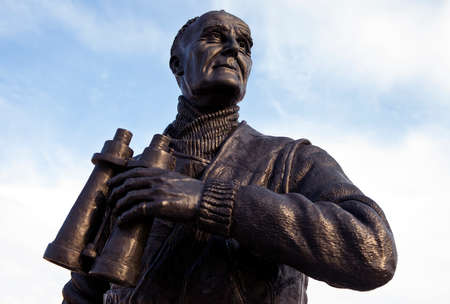 frederic: The statue of former British Royal Navy Officer Captain Frederic John Walker located on the Pier Head in Liverpool