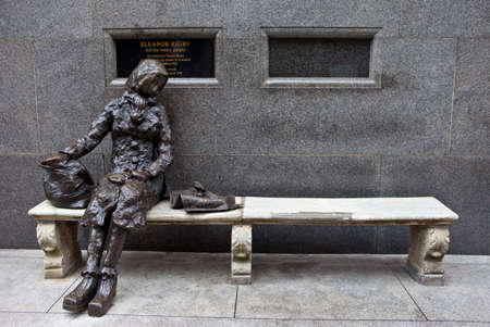 A sculpture of Eleanor Rigby located on Stanley Street in Liverpool   The sculpture was designed and created by former entertainer Tommy Steele and unveiled in 1982