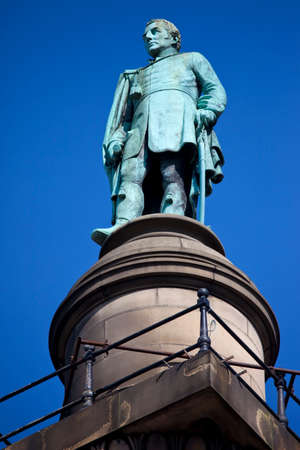 A statue of the Duke of Wellington situated on top of Wellingtons Column