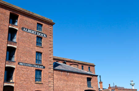 The historic Albert Dock in Liverpool, England