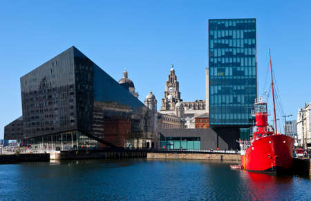 A view from Albert Dock in Liverpool