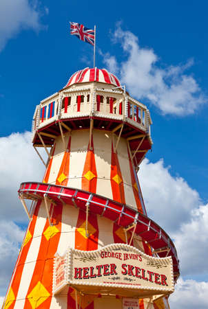 LONDON, UK - MAY 15TH 2014: The Helter Skelter located in the Queen Elizabeth Olympic Park in Stratford, London.