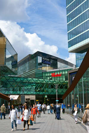 stratford: LONDON, UK - MAY 15TH 2014: A view of Westfield Shopping Centre in Stratford, East London. Editorial