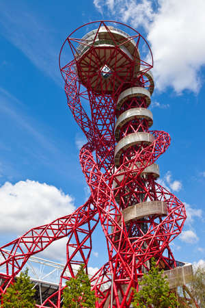 The ArcelorMittal observation tower located in the Queen Elizabeth Olympic Park, London.