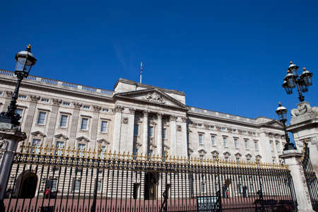 LONDON, UK - MAY 16TH 2014: The historic Buckingham Palace in London on 16th May 2014.