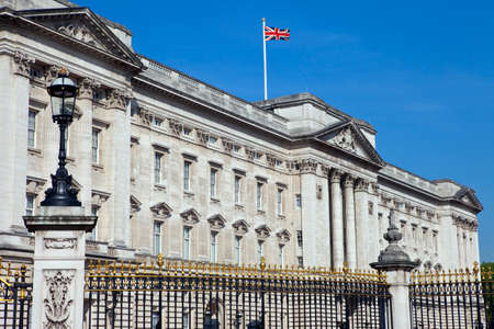 prince charles of england: LONDON, UK - MAY 16TH 2014: The historic Buckingham Palace in London on 16th May 2014.