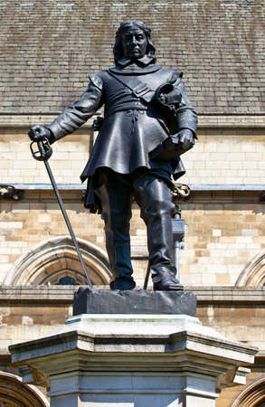 parliamentarian: Statue of Oliver Cromwell situated in Westminster, London.