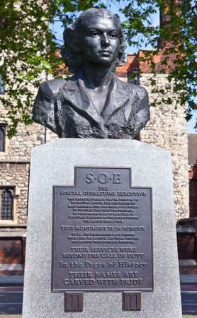 special operations: A Memorial to those who served in the Special Operations Executive during World War II.  It is located along the Albert Embankment in London. Editorial