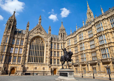 richard: A statue of King Richard I (also known as Richard the Lionheart) outisde the Houses of Parliament in London.