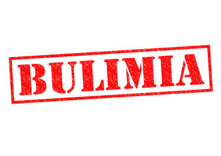 bulimia: BULIMIA red Rubber Stamp over a white background.