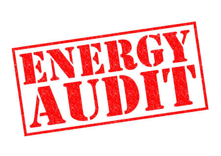 ENERGY AUDIT red Rubber Stamp over a white background. photo