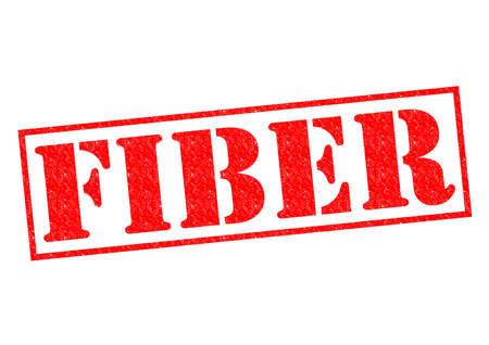 intestinos: Caucho FIBRA rojo sello sobre un fondo blanco.
