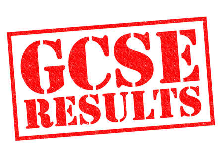 mocks: GCSE RESULTS red Rubber Stamp over a white background.