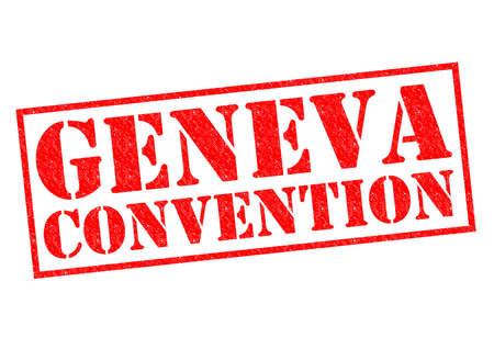 convention: GENEVA CONVENTION red Rubber Stamp over a white background.