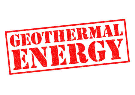 greenhouse gas: GEOTHERMAL ENERGY red Rubber Stamp over a white background.