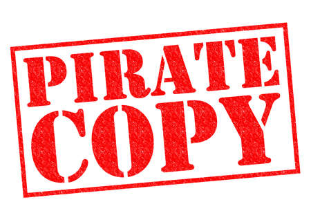 PIRATE COPY red Rubber Stamp over a white background. photo