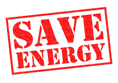 SAVE ENERGY red Rubber Stamp over a white background. photo