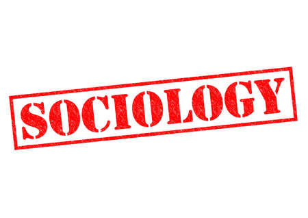 sociologist: SOCIOLOGY red Rubber Stamp over a white background.
