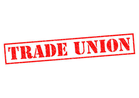 trade union: TRADE UNION red Rubber Stamp over a white background. Stock Photo