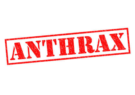 anthrax: ANTHRAX red Rubber Stamp over a white background.