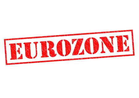 zone euro: Tampon rouge ZONE EURO sur un fond blanc.