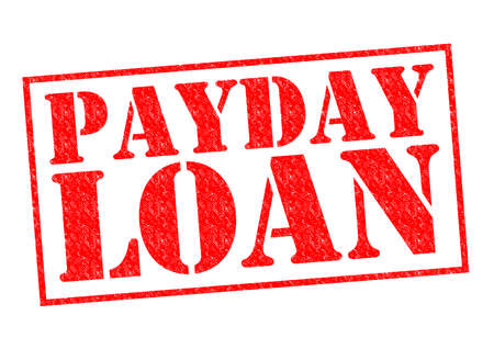 payday: PAYDAY LOAN red Rubber Stamp over a white background. Stock Photo