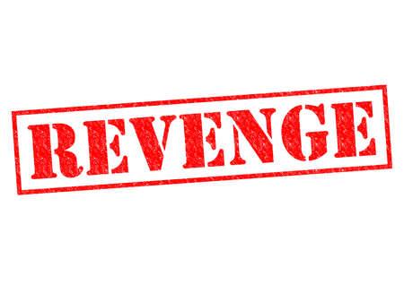 revenge: REVENGE red Rubber Stamp over a white background.