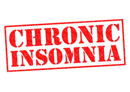 CHRONIC INSOMNIA red rubber Stamp over a white background. photo