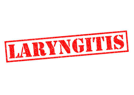acid reflux: LARYNGITIS red Rubber stamp over a white background.