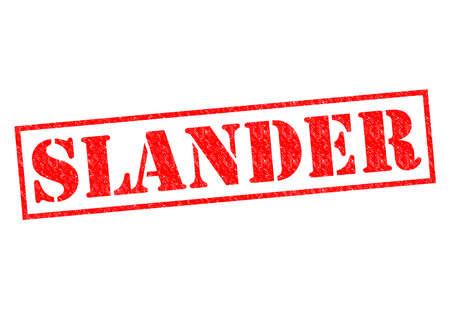libel: SLANDER red Rubber Stamp over a white background.