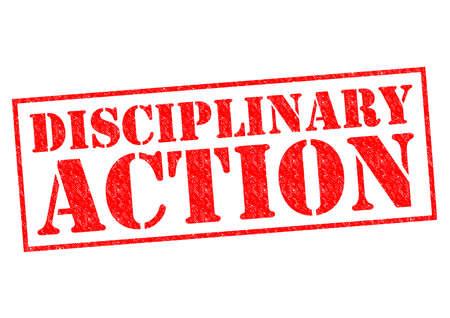 DISCIPLINARY ACTION 스톡 콘텐츠