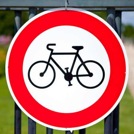A No Cycling Sign. photo