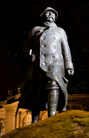 georges: A statue of former French Prime Minister George Clemenceau, situated outside Petit Palais in Paris, France.