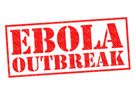 outbreak: EBOLA OUTBREAK red Rubber Stamp over a white background.