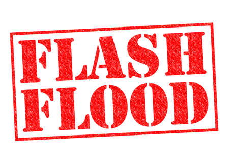 FLASH FLOOD red Rubber Stamp over a white background. photo