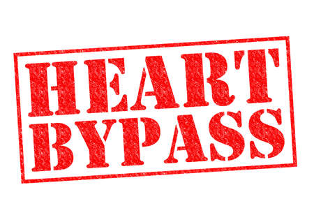 heart bypass: HEART BYPASS red Rubber Stamp over a white background.