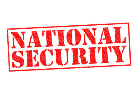 counter terrorism: NATIONAL SECURITY red Rubber Stamp over a white background.