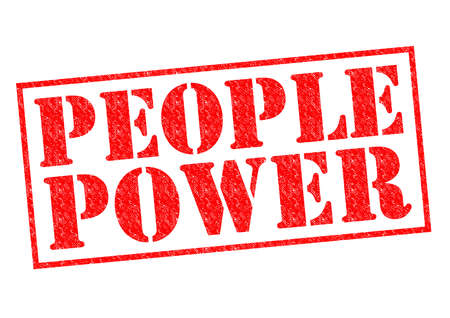 people power: PEOPLE POWER red Rubber Stamp over a white background. Stock Photo